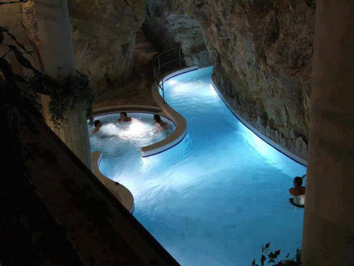 Inside Pool Cave thermal baths inside a cave-miskolc tapolca, hungary. - moco-choco