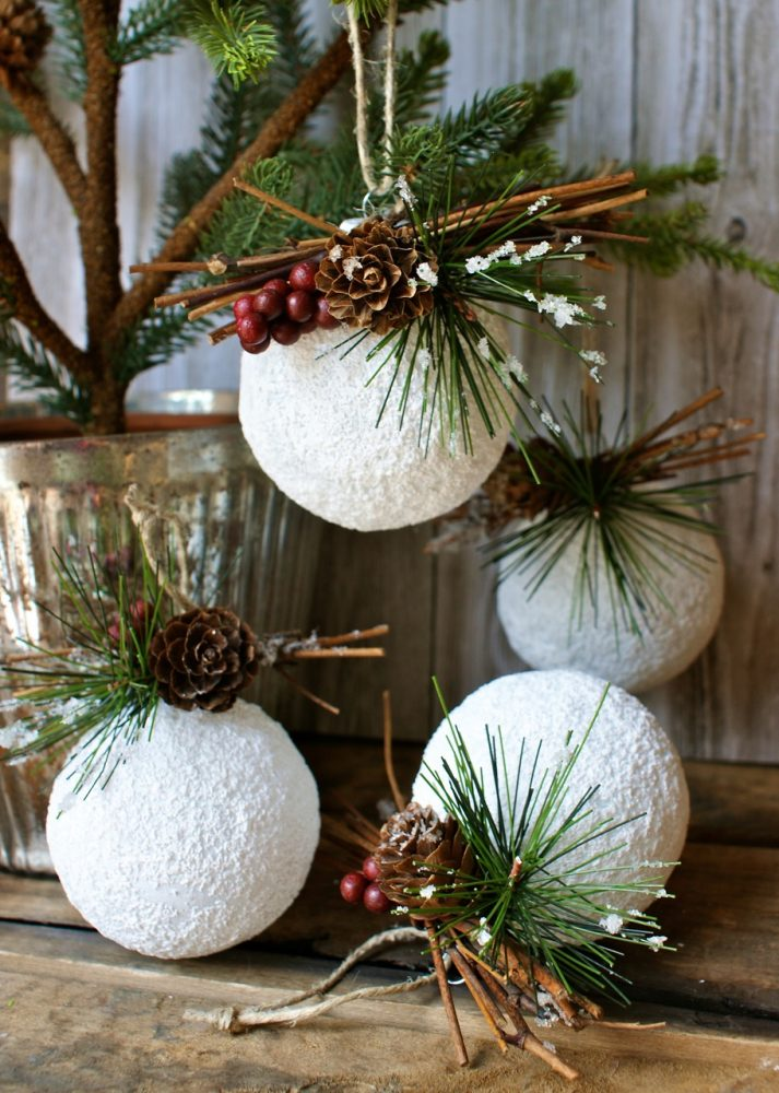 Rustic christmas decorations diy - Creative Christmas Ornament White